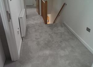 Cormar sensation luxury saxony carpet installation at a bespoke flat in Ware.
